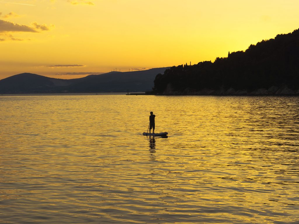 sunset split by Adriatic SUP