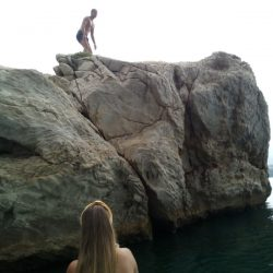 cliff jumping Split Adriatic SUP
