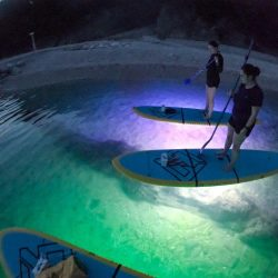 split night paddle boarding tour