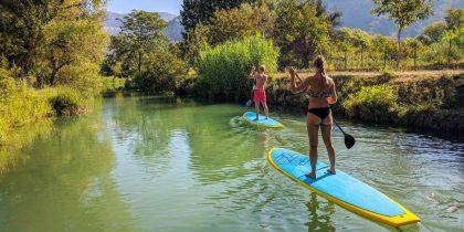 split sea & river paddleboarding