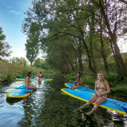 split sea & river standup paddleboarding