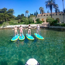 stand up paddling in split